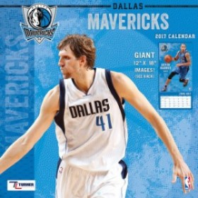 John F. Turner ジョン エフ ターナー スポーツ用品  Dallas Mavericks 12 x 12 2017 Team Wall Calendar