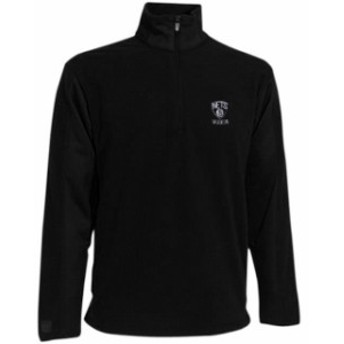 Antigua アンティグア スポーツ用品  Antigua Brooklyn Nets Youth Frost Microfleece Quarter Zip Jacket - Black