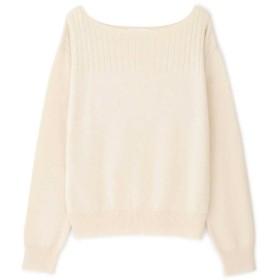 【公式/NATURAL BEAUTY BASIC】ウインターカラーベーシックニット/女性/ニットトップ/エクリュ/サイズ:M/ナイロン 56% レーヨン 30% アンゴラ 11% 羊毛 3%