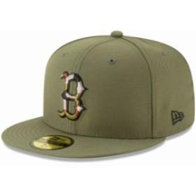 New Era ニュー エラ スポーツ用品  New Era Boston Red Sox Olive Camo Trim 59FIFTY Fitted Hat