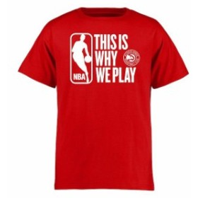 Fanatics Branded ファナティクス ブランド スポーツ用品  Atlanta Hawks Youth Red This Is Why We Play T-Shirt