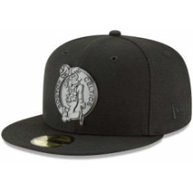 New Era ニュー エラ スポーツ用品  New Era Boston Celtics Black Sleeked Finish 59FIFTY Fitted Hat