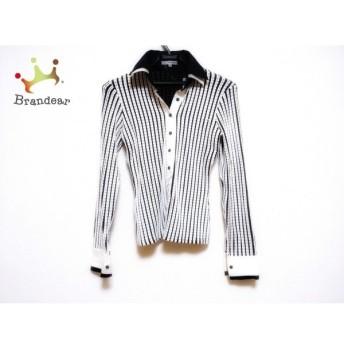 ナラカミーチェ NARACAMICIE 長袖シャツブラウス サイズ0 XS レディース 白×黒 ニット   スペシャル特価 20200124