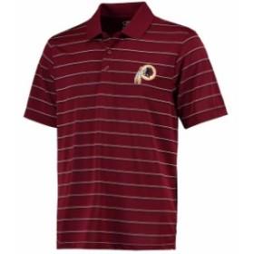 Cutter & Buck カッター アンド バック シャツ ポロシャツ Cutter & Buck Washington Redskins Burgundy/Black DryTec Venture Stripe Po