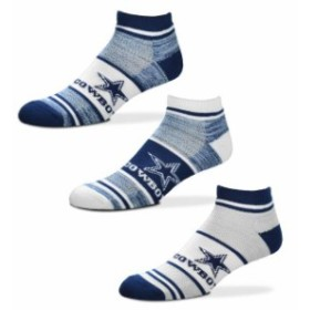 For Bare Feet フォー ベア フィート スポーツ用品  For Bare Feet Dallas Cowboys Triplex Heathered 3-Pack Sock Set