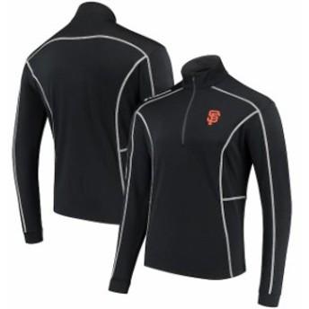 Columbia コロンビア アウターウェア ジャケット/アウター Columbia San Francisco Giants Black Shotgun Quarter-Zip Pullover Jacket