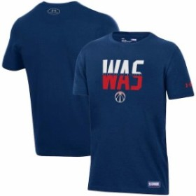 Under Armour アンダー アーマー スポーツ用品  Under Armour Washington Wizards Youth Navy Combine Authentic City Performance T-Shi