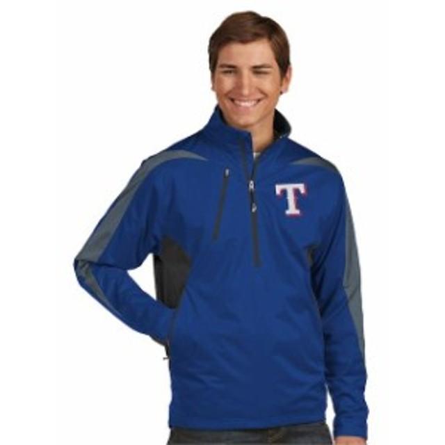 Antigua アンティグア アウターウェア ジャケット/アウター Antigua Texas Rangers Royal Discover Half-Zip Jacket