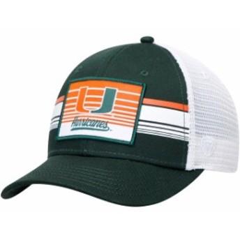 Top of the World トップ オブ ザ ワールド スポーツ用品  Miami Hurricanes Top of the World Breeze Trucker Adjustable Hat - Green