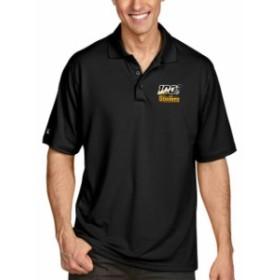 Antigua アンティグア シャツ ポロシャツ Antigua Pittsburgh Steelers Black NFL 100 Pique Xtra-Lite Polo