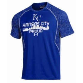 Under Armour アンダー アーマー スポーツ用品  Under Armour Kansas City Royals Royal Apex Print Performance T-Shirt