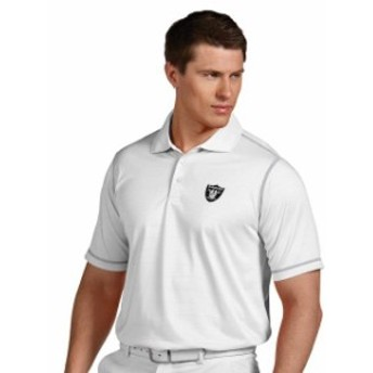 Antigua アンティグア シャツ ポロシャツ Antigua Oakland Raiders White Icon Desert Dry Polo