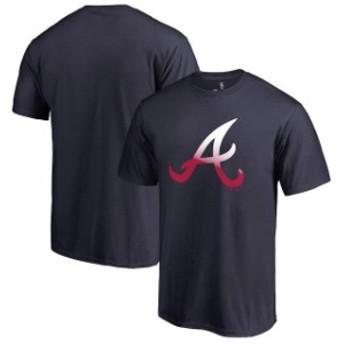 Fanatics Branded ファナティクス ブランド スポーツ用品  Fanatics Branded Atlanta Braves Navy Big & Tall Gradient Logo T-Shirt