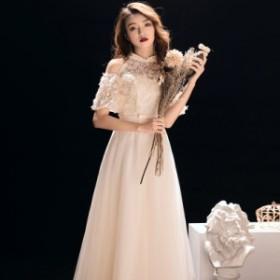ドレス パーティードレス お呼ばれドレス 結婚式 お呼ばれ ロング ワンピース 大きいサイズ 袖あり 20代 30代 長袖 3657