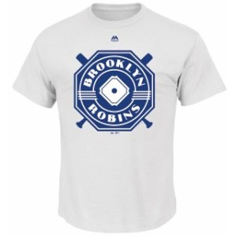 Majestic マジェスティック スポーツ用品  Majestic Brooklyn Robins White Historical Team T-Shirt