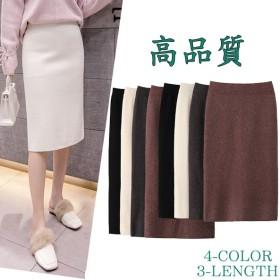 3-TYPE!大活躍 フェミニンラインで上品なニットタイトスカート