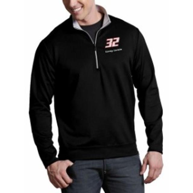 Antigua アンティグア アウターウェア ジャケット/アウター Corey LaJoie Antigua Leader Quarter-Zip Pullover Jacket - Black/Steel