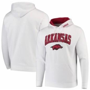 Colosseum コロセウム スポーツ用品  Colosseum Arkansas Razorbacks White Arch & Logo Pullover Hoodie