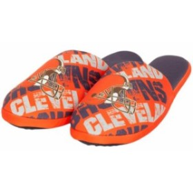 Forever Collectibles フォーエバー コレクティブル スポーツ用品  Cleveland Browns Orange Digital Print Slippers