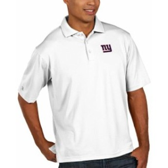 Antigua アンティグア シャツ ポロシャツ Antigua New York Giants White Pique Xtra Lite Big & Tall Polo