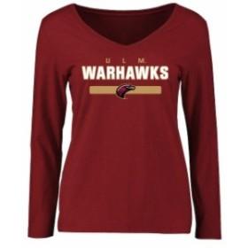 Fanatics Branded ファナティクス ブランド スポーツ用品  ULM Warhawks Womens Maroon Team Strong Long Sleeve T-Shirt