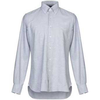 《セール開催中》ORIAN メンズ シャツ グレー 39 コットン 100%