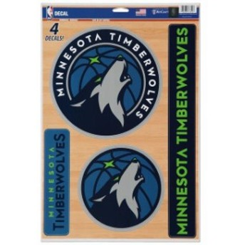 WinCraft ウィンクラフト スポーツ用品  WinCraft Minnesota Timberwolves 11 x 17 Multi-Use Decal Sheet