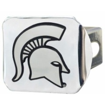 Fan Mats ファン マット スポーツ用品  Michigan State Spartans 3D Chrome Emblem on Chrome Hitch Cover