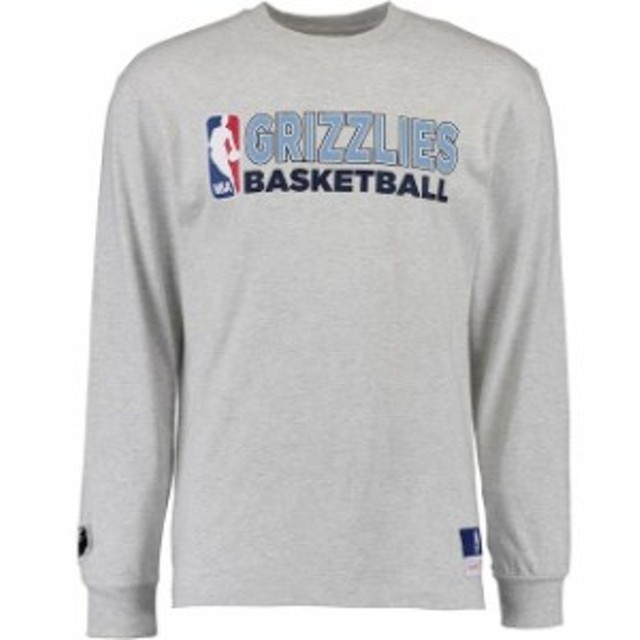 Mitchell & Ness ミッチェル アンド ネス スポーツ用品  Mitchell & Ness Memphis Grizzlies Heather Gray Team Issued Long Sleeve T-Sh