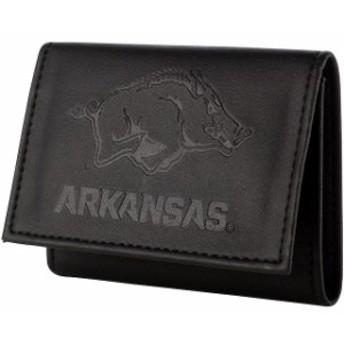 Evergreen Enterprises エバーグリーン エンタープライズ スポーツ用品  Arkansas Razorbacks Black Hybrid Tri-Fold Wallet
