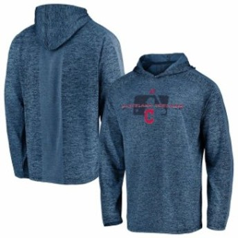 Majestic マジェスティック スポーツ用品  Majestic Cleveland Indians Navy Authentic Collection Ultra-Light Cool Base Pullover Hood