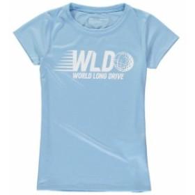 Under Armour アンダー アーマー スポーツ用品  Under Armour World Long Drive Girls Youth Light Blue Tech Performance T-Shirt