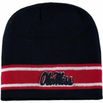Top of the World トップ オブ ザ ワールド スポーツ用品  Top of the World Ole Miss Rebels Navy EZ Stripe Knit Beanie