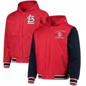 JH Design ジェイエイチ デザイン アウターウェア ジャケット/アウター JH Design St. Louis Cardinals Red Reversible Poly-Twill Hoode