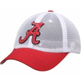 Top of the World トップ オブ ザ ワールド スポーツ用品  Top of the World Alabama Crimson Tide White Mesh Made Snapback Adjustable