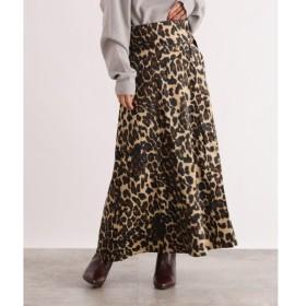 OZOC / オゾック [洗える]レオパードマキシスカート