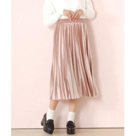 (LODISPOTTO/ロディスポット)ベロアプリーツスカート/レディース ピンク
