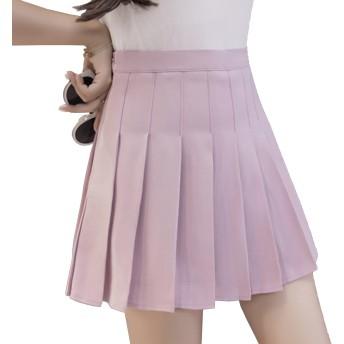 [ミニマリ] プリーツ ミニスカート 制服 スカート プリーツ タイトスカート ハロウィン 仮装 衣装 セクシー ピンク Mサイズ