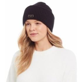 ケイトスペード レディース 帽子 アクセサリー Kate Spade New York Label Beanie Black