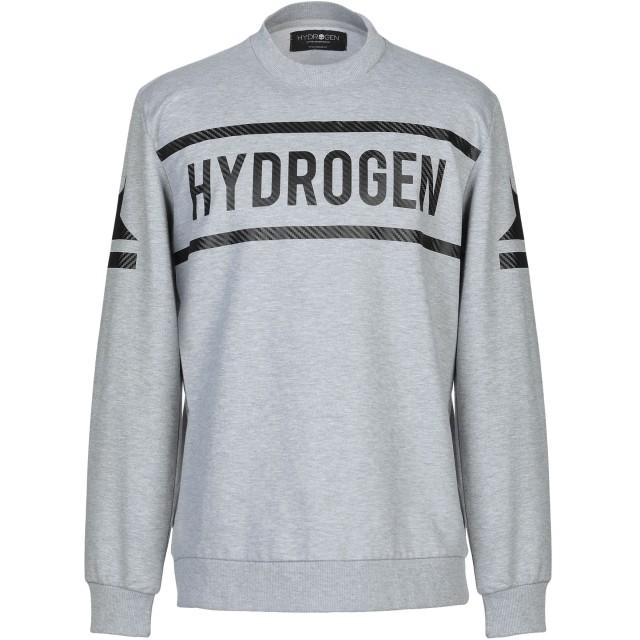 《セール開催中》HYDROGEN メンズ スウェットシャツ ライトグレー M コットン 75% / ポリウレタン 25%