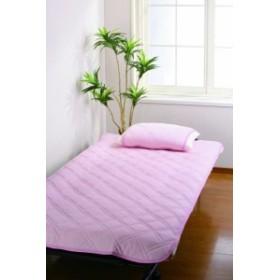 ☆☆☆☆☆(5つ星)冷感敷布パッド+枕カバー2枚セット ピンク