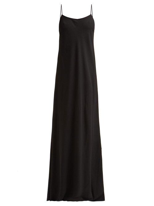 The Row - Ebbins Bias-cut Crepe Dress - Womens - Black