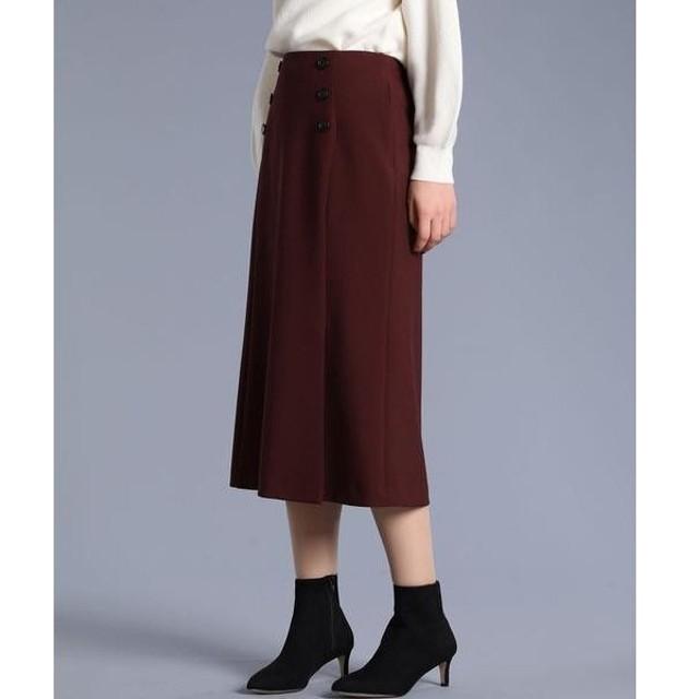ef-de L / エフデ(エルサイズ) 《大きいサイズ》ボタンデザインスカート《Maglie par ef-de》