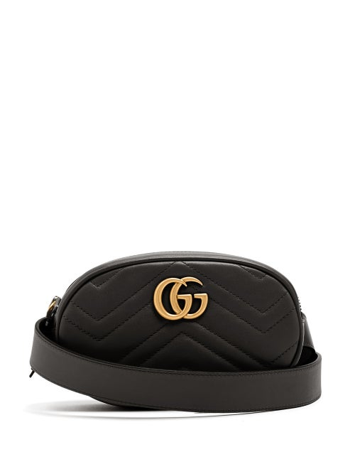 Gucci - GG Marmont Quilted-leather Belt Bag - Womens - Black