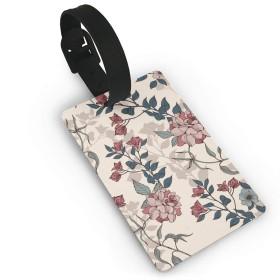 おかしいクルーズ旅行荷物タグ、ビジネス名ID女性のためのスーツケースラベル-バラの花柄
