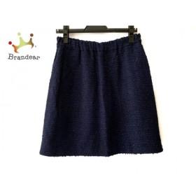 ドゥロワー Drawer スカート サイズ40 M レディース ダークネイビー×ネイビー×パープル 新着 20191018