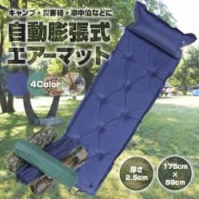 自動膨張式 エアーマット 175×59cm 厚さ2.5cm エアマット エアーベッド キャンプマット ◇PAD-2CM