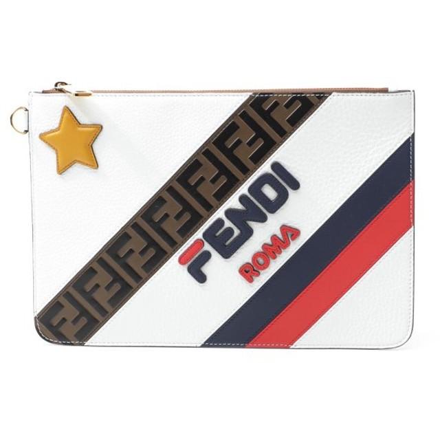 フェンディ FENDI クラッチバッグ ポーチ ホワイト メンズ 7n0078-a5ph-f15ar