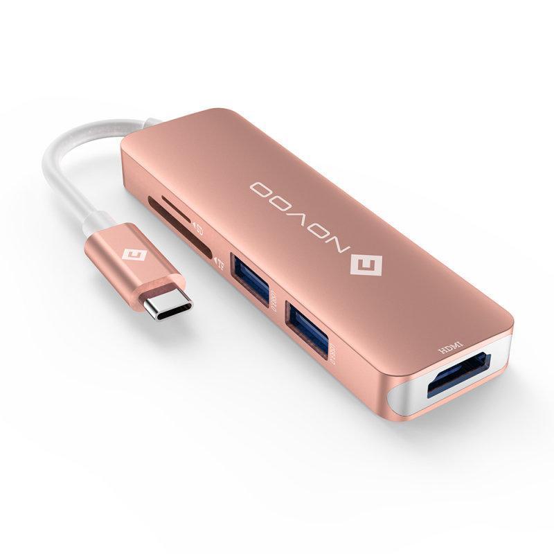 USB-C HUB / 五合一Type-C多功能集線器 - 共2色 粉紅色