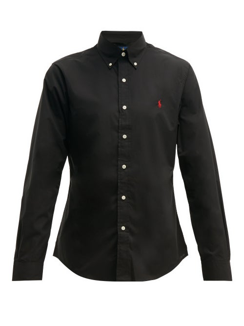 Polo Ralph Lauren - Slim-fit Cotton-poplin Shirt - Mens - Black